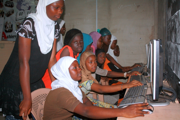 ABC girls excited with new computers